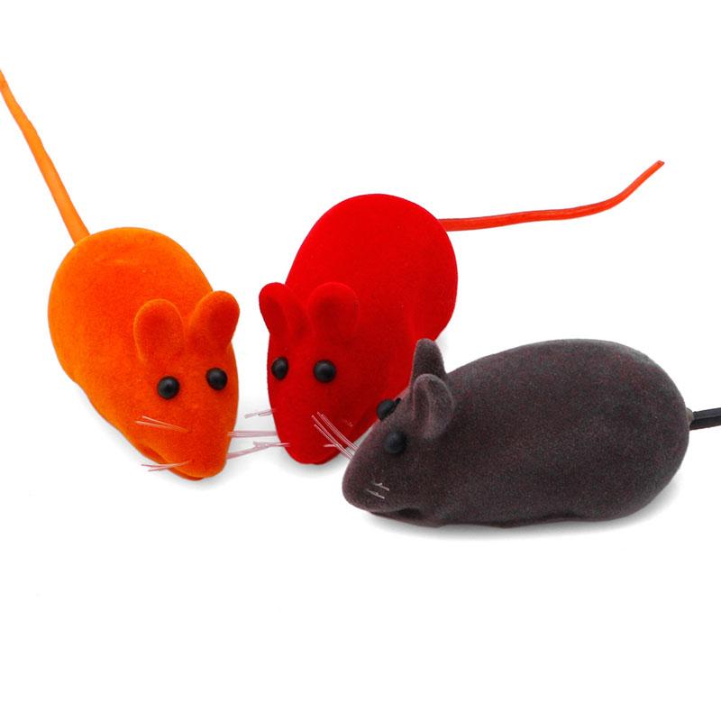 Pet supplies 5pcs Cute Furry Mouse for Cat Toys Kitten Play False Mice Rat Toys Squeak Sound Funny Cat Supplies(China (Mainland))