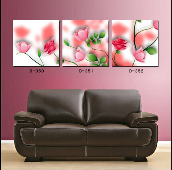 rose flowers wall paintings for bedroom decoration canvas painting