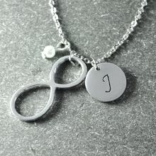 Infinity Necklace , Personalized Jewelry , one letter  Necklace , Bridesmaid Jewelry , Bridesmaid  Necklace(China (Mainland))