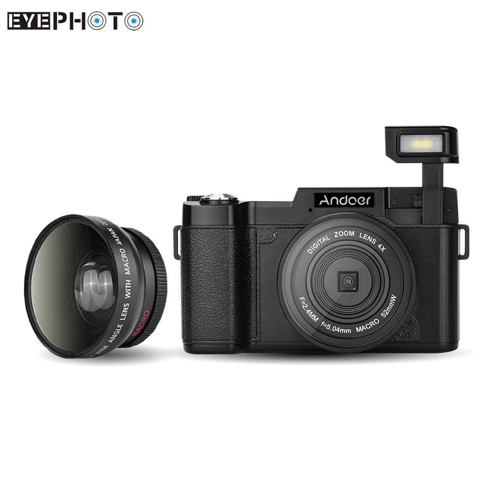 "Andoer CDR2 24MP Digital Camera Full HD 1080P 3.0"" Rotatable LCD Screen Anti-shake 4X Camcorder w/ Wide-angle Lens & UV Filter(China (Mainland))"