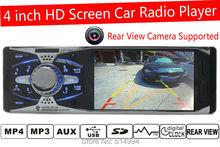 2015 nuovo 4 ''pollici tft hd dell'automobile dello schermo di radio, supporto fotocamera posteriore usb sd aux in radio con telecomando, 1 din car audio stereo mp5(China (Mainland))
