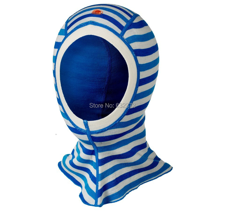 100%merino wool kids balaclava face masked color stripe cap windproof head children hat accessories 4 COLORS FOR CHOICE(China (Mainland))