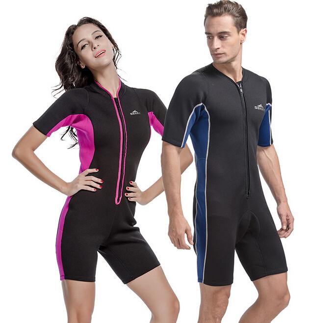 SBART Neoprene 2mm Wetsuit Scuba Diving Suit One-Piece Swimwear Swimming Wet Suits Dive Rashguard Men Womens Rash Guard