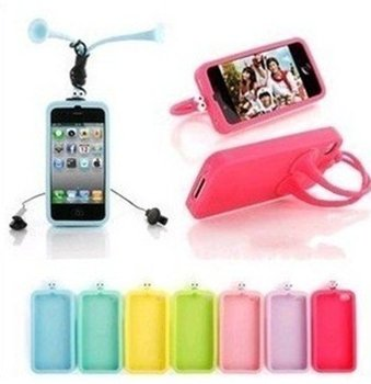 For apple iphone 4,4g,4s silicon grasshopper case ,soft silicone cellphone cover case 10ps