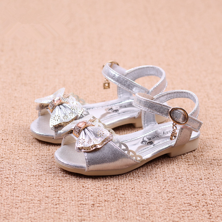 kids sandals child fashion sandals summer hollow out bowknot princess sandals children s font b shoes