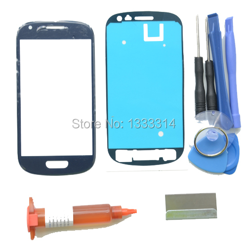 Front Outer Lens Glass Replacement Kits For Samsung Galaxy S3 Mini i8190 Glass Repiar Parts UV Glue Blade Adhesive(China (Mainland))