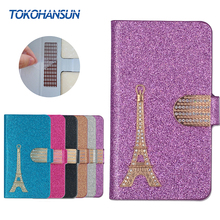 Buy Homtom HT17 Pro Case Luxury Bling Flip Wallet Effiel Tower Diamond 2017 New Hot PU Leather cover TOKOHANSUN Brand for $3.59 in AliExpress store