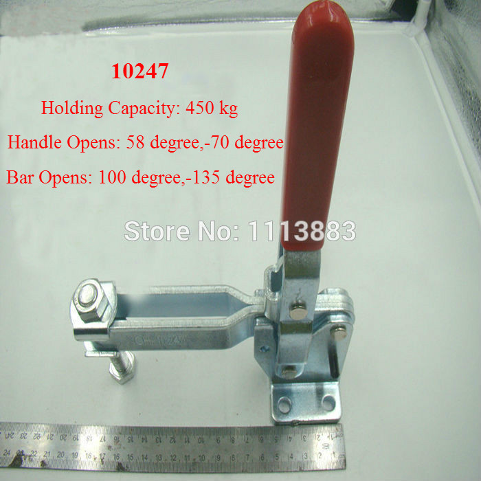 Heavy Duty 450KG 992LBS Vertical Type Toggle Clamp 10247 U Bar Flanged Base(China (Mainland))
