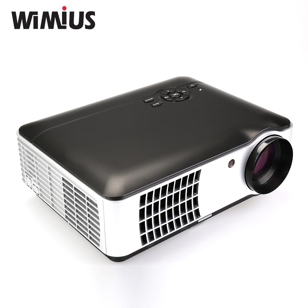 "Wimius 2800 Lumens 5.8""TFT LCD RD-806A Full HD 1080P Video TV LED Projecteur ATV / DVB-T Home Proyectores HDMI/USB/VGA/AV Beamer(China (Mainland))"