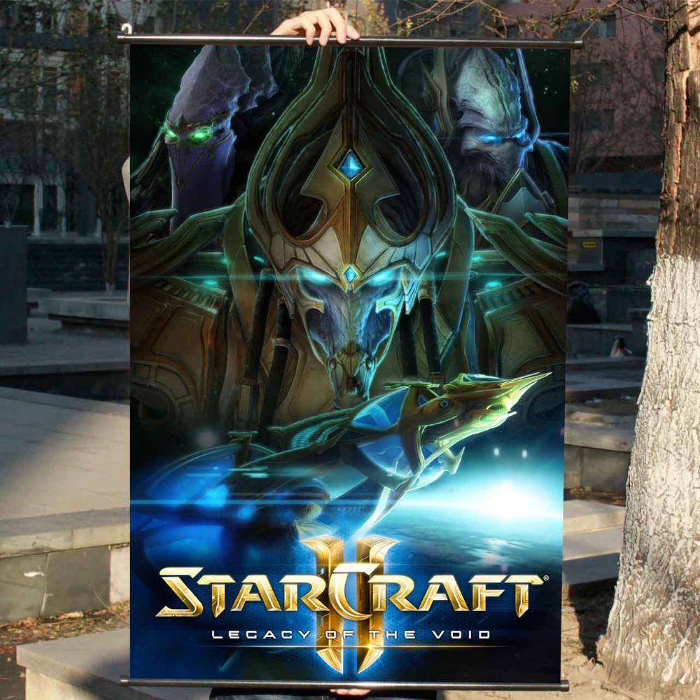 Space StarCraft 2 HD Game Scrolls Movie Poster Wall Sticker Banners Hanging Waterproof Cloth Art Bedroom Living Room Decoration(China (Mainland))