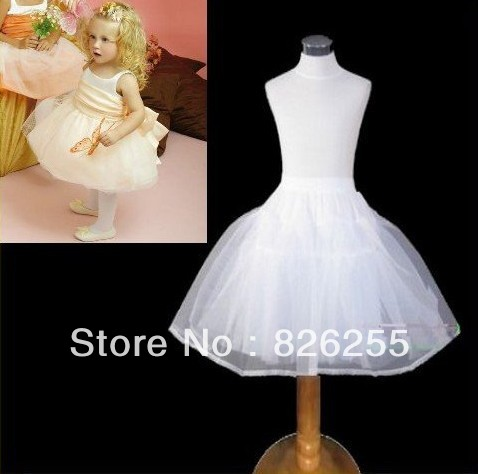 Free shipping high quality wedding dress accessory one size for all adjustable flower girl crinoline/dress petticoat WA0006(China (Mainland))