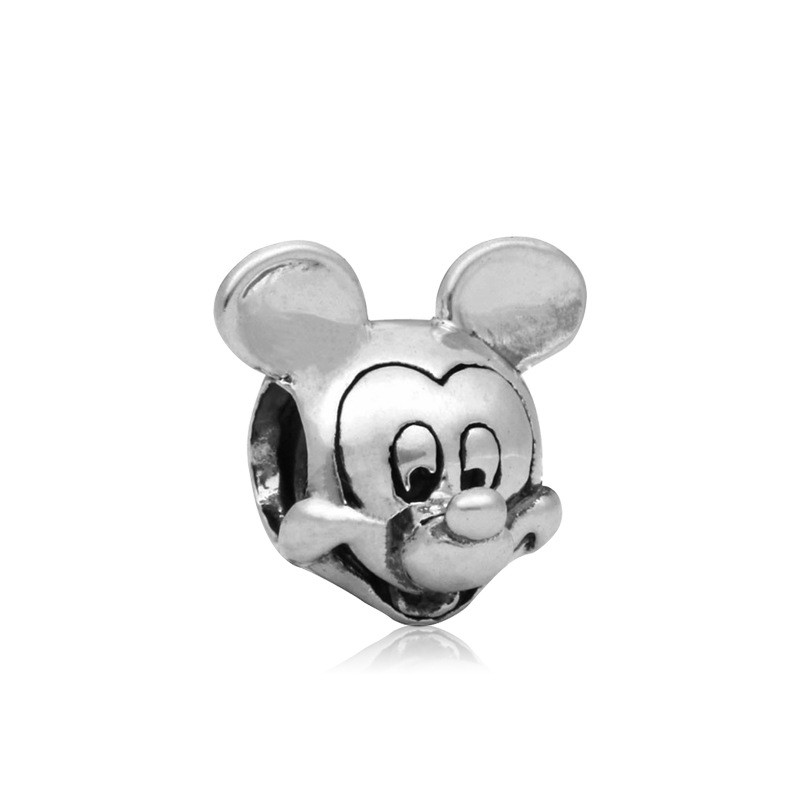 Free Shipping Sliver Bead Charm Cute Mouse Small Accessories Beads Fit Pandora Bracelets & Bangles DIY Jewelry SPB145(China (Mainland))