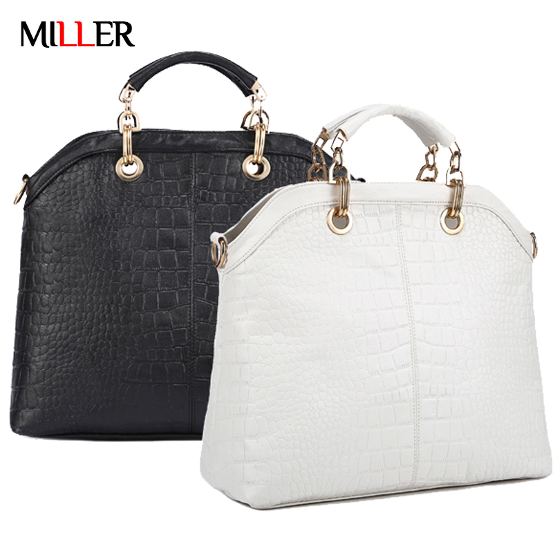 Designer Handbags High Quality Crocodile Pattern Women Bag Ladies Genuine Leather Tote Bags Bolsos Mujer De Marca Famosa 2015