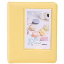 EWS!Mini Photo Album 64 Slots Fujifilm Instax Mini Film 8 7s 25 50s 90 Camera-yellow - Electronics World Store store