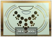 Waterproof gold and sliver tattoo jewelry beautiful necklace set patterns tatuajes temporales 14.8X21CM jewelry tattoo(China (Mainland))
