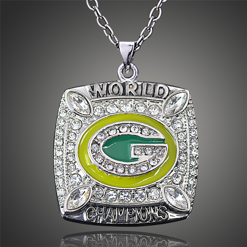 Wisconsin Green Bay Packers Aaron Rodgers Replica Super Bowl Pendant Necklace for Men Sport Fans D00515(China (Mainland))