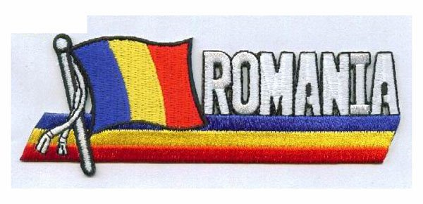 client's design are welcome,ROMANIA flag patch,heat cut edge,100pcs/plastic bag, iron on backing,guarantee100%,fee shipping(China (Mainland))