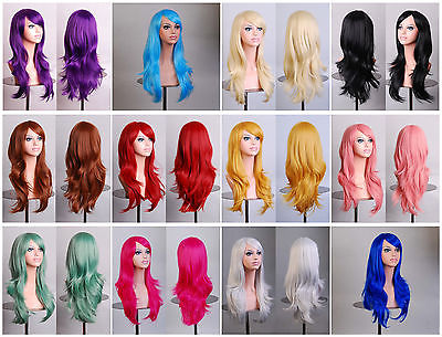 Гаджет  Women hair heat resistant 28 in. long 70cm big wavy cosplay wig  None Изготовление под заказ