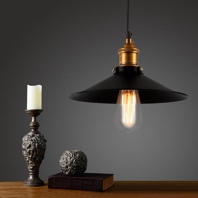 brons vintage bar hanglamp edison retro lamp Zwart Schaduw Kookeiland ...