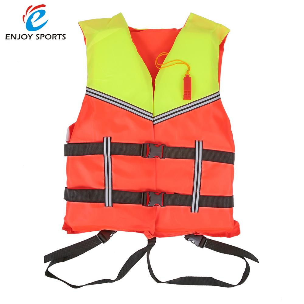 Adult Life Jacket Vest PFD Fully Enclose Foam Boating Water Fishing Safety Jackets Aid Boating Surfing Vests With Whistle(China (Mainland))