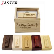 JASTER (over 10 PCS free LOGO) Photography Customer LOGO Wooden usb+BOX usb flash drive pendrive 4GB 8GB 16GB 32GB wedding gift(China (Mainland))