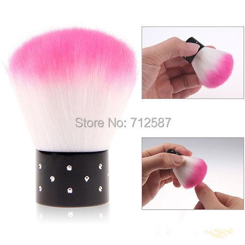New Colorful Nail tools Brush For Acrylic & UV Gel Nail Art Dust Cleaner(China (Mainland))