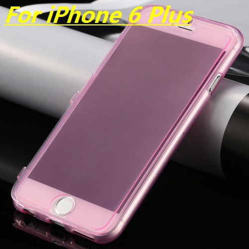 For Apple IPhone 6/6S 6S Plus/6 Plus Case High Quality 100% Transparent Material Flip TPU Back Cover Phone Bag Protector