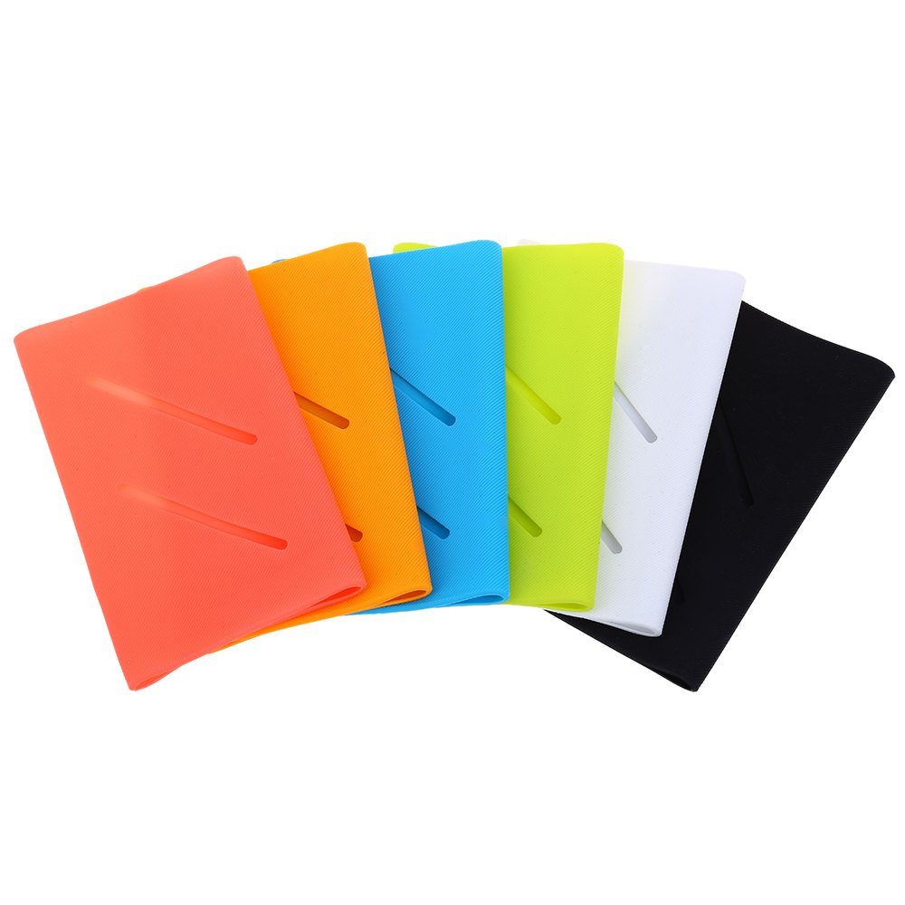 Silicone Sleeve Solid Color Protective Casing for Xiaomi QC 10000mAh Power Bank Nonskid Silicone Material USB Storage Design(China (Mainland))