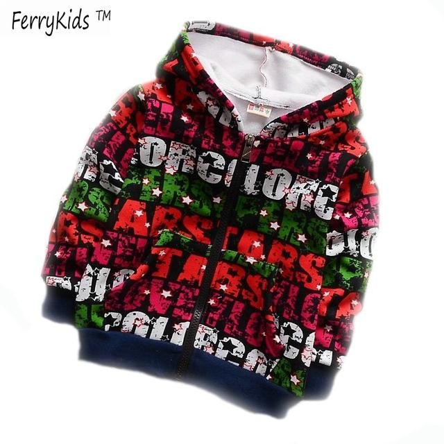 2015 новых осень зима дети толстовки мальчиков бархатные детская одежда мальчик футболка ...