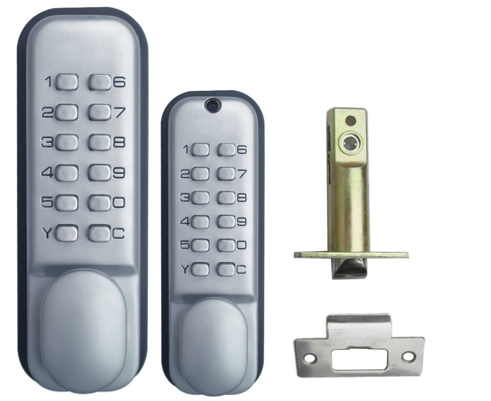 Free-Shipping OSPON OS208S The 2th generation of mechanical locks All-Weather Double Keypad Mechanical Keyless Door Lock(China (Mainland))