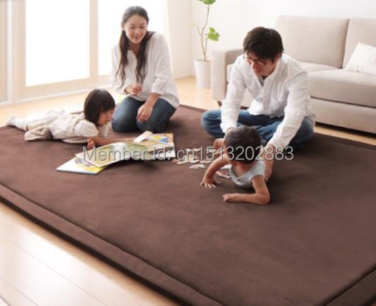 Alfombra tapetes de sala ni os gateando mat piso de for Alfombra terciopelo