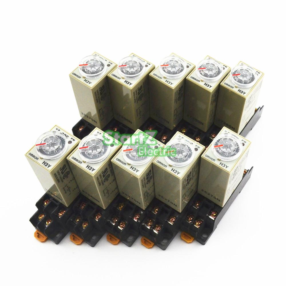 10Pcs H3Y-2 DC 12V Delay Timer Time Relay 0 -  60S with Base<br><br>Aliexpress