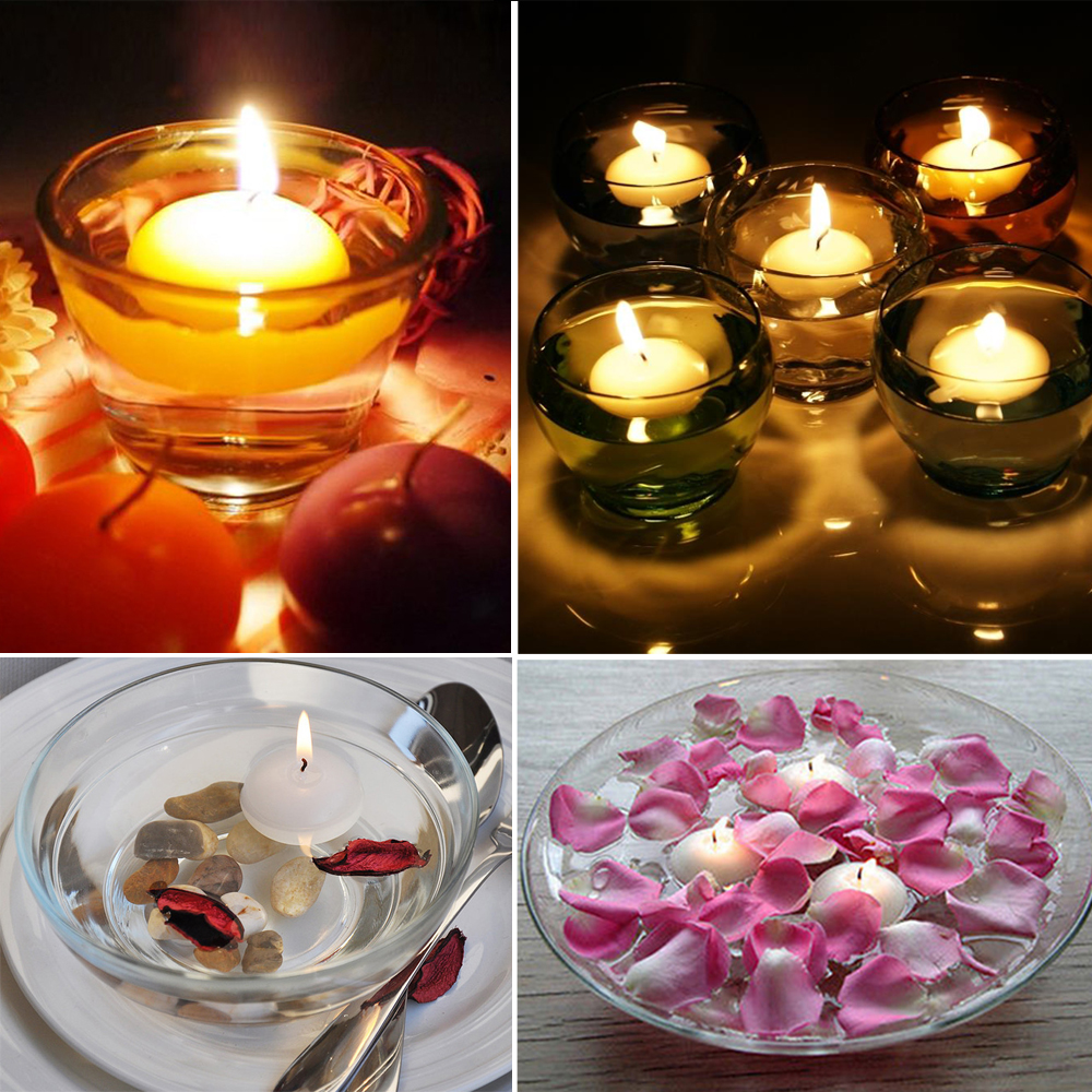12PCS/Pack Unscented Floating Candles Submersible Tea Light for Wedding Party Home Decorations Centerpiece Kit(China (Mainland))