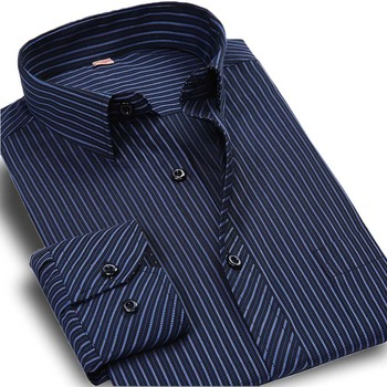 Plus Size 5XL 6XL Autumn New 2016 Men Striped Dress Shirt Formal Fashion Long Sleeve Brand Business Men Casual Shirt Regular Fit