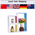 Hottest 3Pc Set Floating Wood Wall Cubes CD DVD Shelf Hanging Storage Display Shelves