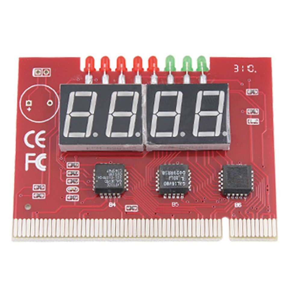 27g 4-Digit PC Mainboard POST Diagnostic Analyzer Test Card,Free Shipping(China (Mainland))