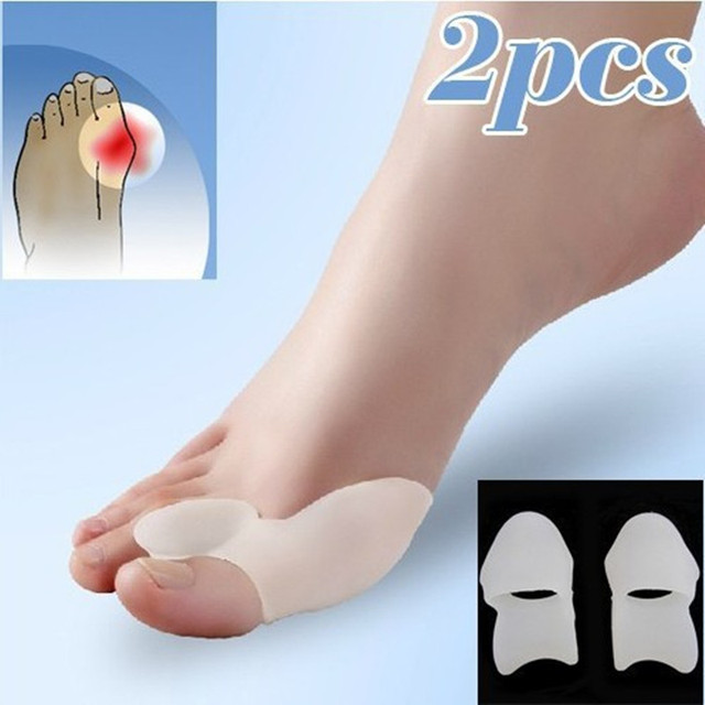 Silicone Gel Foot toe Separator Feet care Tool Thumb valgus protector Bunion adjuster Pain Relief Straighten bent toes GI2538