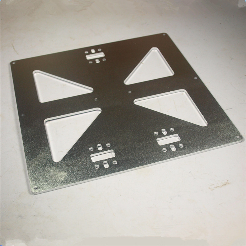 3 mm thick aluminum alloy build bed mounting plate Prusa i3 Universal Y Carriage Plate Upgrade, Aluminum Anodized for 3D Printer