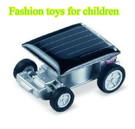Free shipping the smallest car solar car solar toy of children creative DIY toys new car fashion toys for children wholesale(China (Mainland))