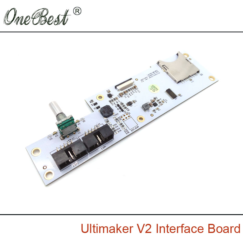 3D Printer Parts Ultimaker V2 Interface Board Integrated SD Card Slot + Encoding Navigation Keys Genuine Spot Free Shipping(China (Mainland))
