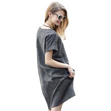 2xl Summer Pregnant Women Dresses Fashion Linen Solid Gray Short Sleeve Dress For Pregnant Women Casual