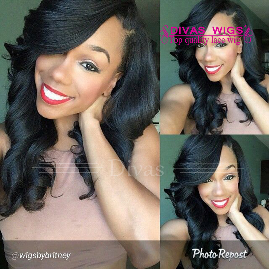 Top Quality Malaysia Synthetic Hair Short Body Wave Bob Wig Black Synthetic Lace Front Wigs Heat Resistant Fast Shipping<br><br>Aliexpress
