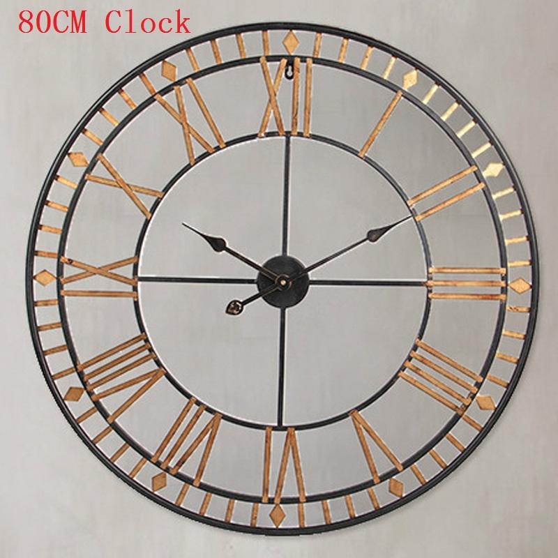 achetez en gros m tal horloge murale chiffres romains en ligne des grossistes m tal horloge. Black Bedroom Furniture Sets. Home Design Ideas