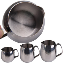 Milk Frothing Jug Stainless Steel Drum Shape Tea Tools Espresso Coffee Frothing Jug Cup Jar Silver 300ML, 350ML, 600ML(China (Mainland))