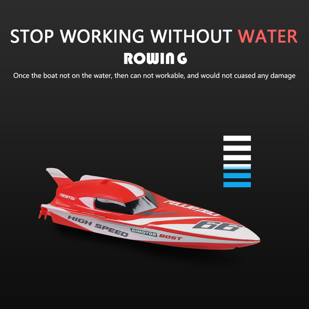 Kids Mini Palm 2.4G 4CH RC Remote Control Boat Ship Model Toy Rechargable with Controller RTR