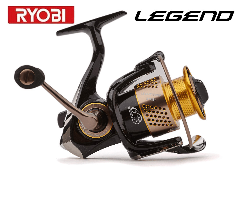 RYOBI fishing reel LEGEND1000-6000 spinning reel metal lure fishing reel Titanium Spindle the second generation of SLAM(China (Mainland))