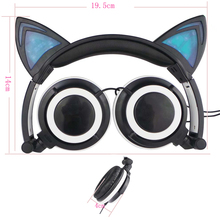 2016 New Arrival Cartoon Cat's Ear Headphone Girls Music Headset For Kids Gift With Microphone for Mobile Phone And Computer