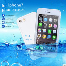New for iphone7 Waterproof Touch Screen Mobile Phone Shell for Apple 7 Package with Hole plug-in TPU + PC is three Phone case