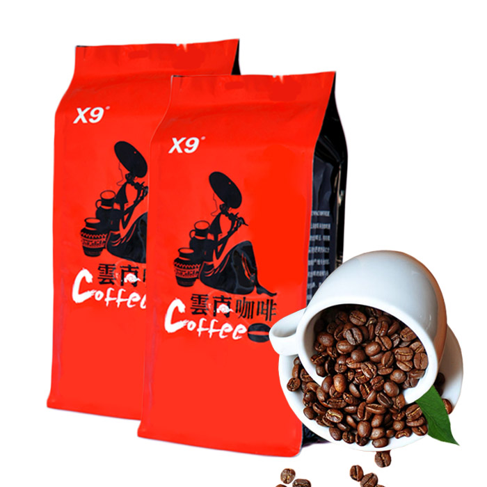 Free Shipping X9 Yunnan Small Seed Coffee Beans AA Level Sugar free Delicate Taste Slimming Coffee