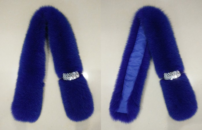 New arrival Luxury warm Winter women fur scarf real fox fur scarves warm neck fur collar shawl brand new fur Fashion Accessories